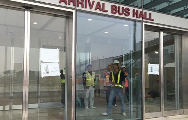 Cửa kính tự động lắp đặt tại trung tâm trương mại Lotte Đào Tấn