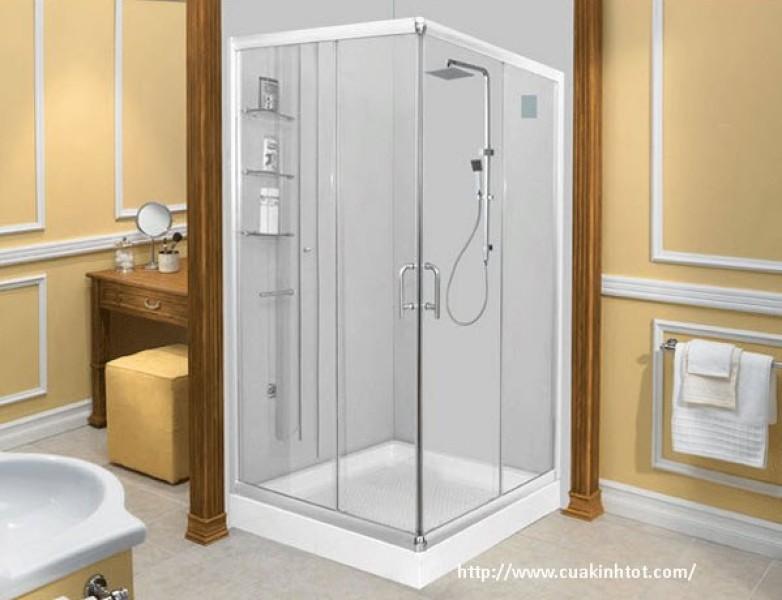 Vách tắm kính vuông